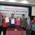 Kembangkan Gerakan Budaya Literasi, SMK Al Irsyad Gandeng TBM Sakila Kerti