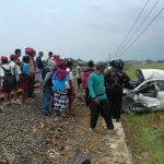 Kereta Api Terjang Siagra di Pealang, Mobil Ringsek Dua Tewas