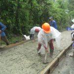 Proyek Jalan Rabat Beton di Kabupaten Tegal APBD Tahun 2017 Diduga Asal Jadi