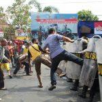 Simulasi Kerusuhan Pemilu 2019 di Tegal, Seperti ini Situasinya