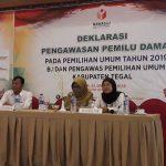 Bawaslu Kabupaten Tegal Gelar Deklarasi Pemilu Damai, Aman, Bermartabat