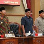 Walikota Serahkan LKPJ Kepada DPRD Kota Tegal