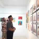 Ajak Masyarakat Jaga Kerukunan,Komunitas Perupa Tegal Gelar Pameran Lukisan
