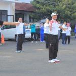 Jalin Senergitas, BNN Kota Tegal Gelar Senam Bersama Pemkot Tegal