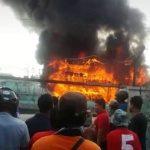 Satu Kapal Ludes Terbakar di Pelabuhan Tegal