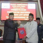 Saat Pemkot Tegal Mendapat Kritikan, Saran dan Pujian Dalam Paripurna Persetujuan LPP APBD 2018