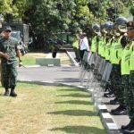 Jelang Pilkades, Sekda Cek Persiapan PAM Pasukan di Kodim 0712/ Tegal